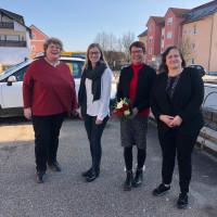 Bürgermeisterkandidatinnen Nicole Bäumler (Schirmitz), Susi Bittner (Plößberg) und Karin Frankerl (Schwandorf) sowie Marianne Schieder, MdB