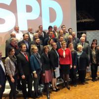 MdB Franziska Giffey mit den Kreistagskandidat*innen