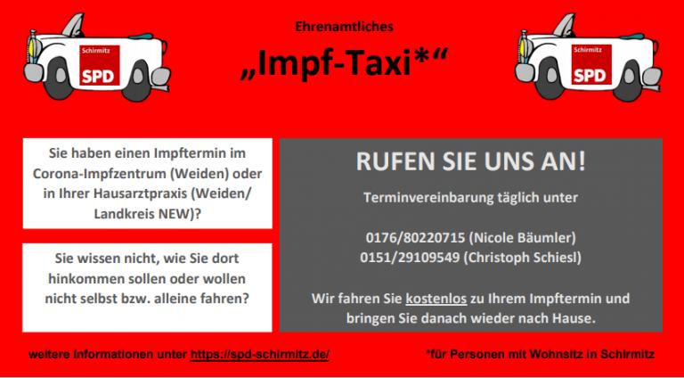 Flyer Impf-Taxi